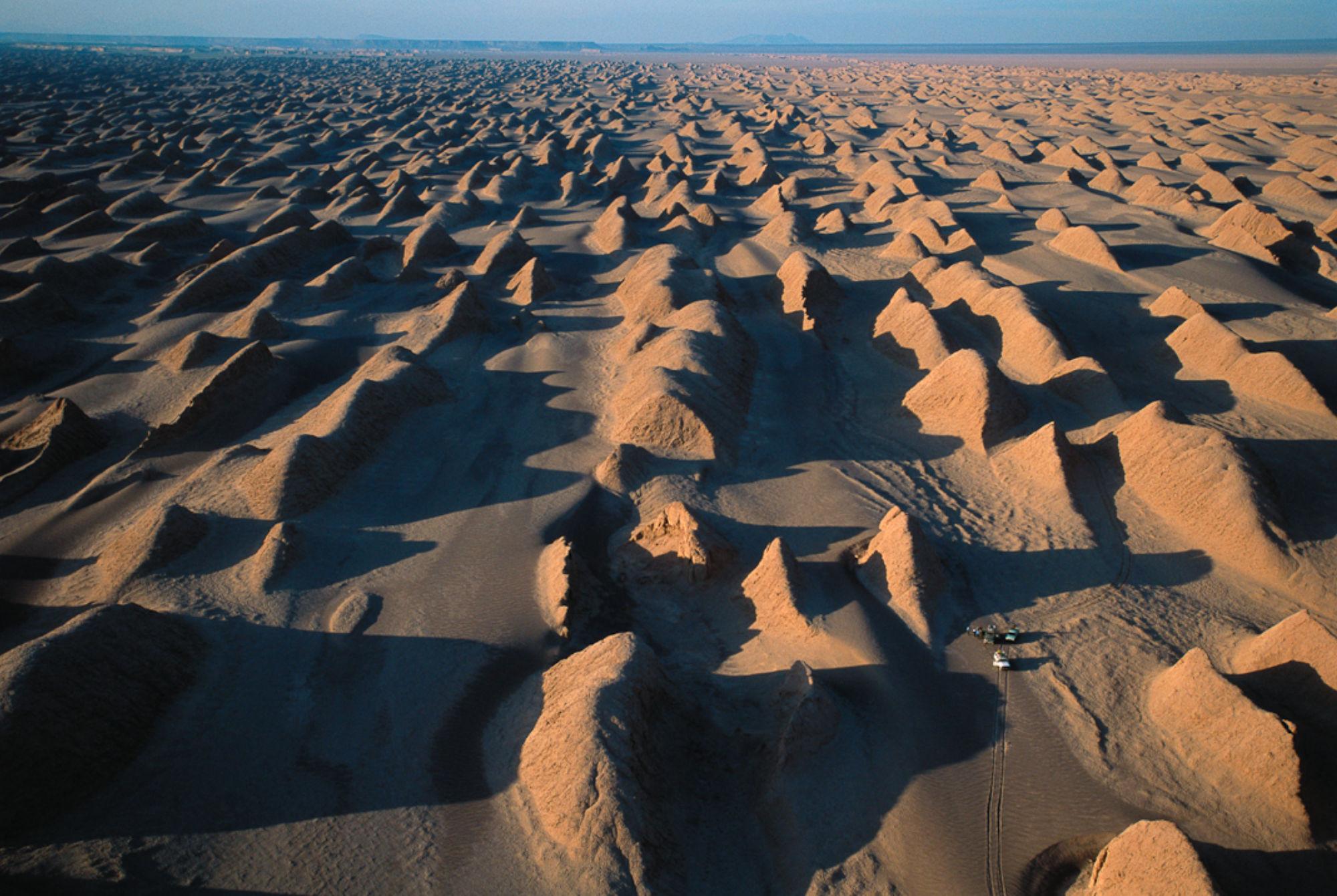 Yardang nel deserto del Lut